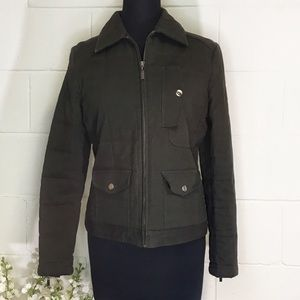 Lord & Taylor Identity Olive Green Quilted Jacket
